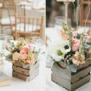 wesele rustykalne, styl rustykalny, ślub rustykalny, dekoracje stołów weselnych 1
